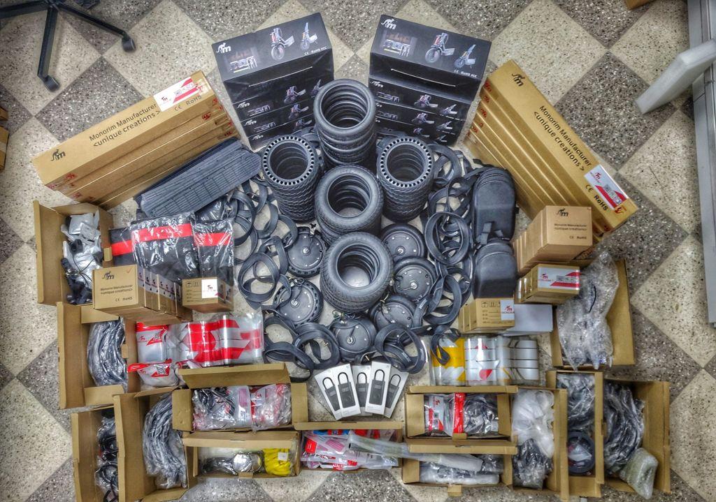 ricambi ed accessori per monopattini elettrici